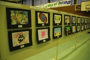 1年生美術の作品展示